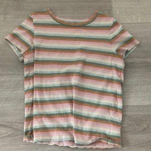 American Eagle coloured stripe shirt